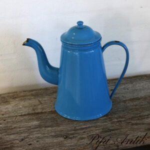 09 Blå Madam kaffekande G&M Ø20x31 cm H