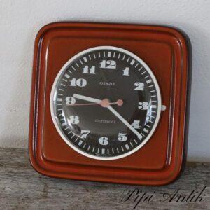 Orange retro køkkenur L22xH21,5 x2,5 cm D