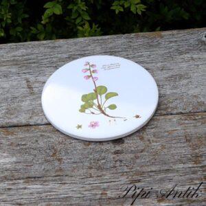 Flora Danica blomster platte uden ophæng Sommerkonvald Ø15,4 cm