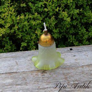 Romantisk loftlampe med grønlig kant Ø14xH17 cm