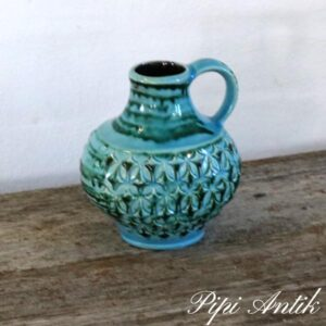 WG vase tyrkis keramik der står kun 1652 B14xH15 cm