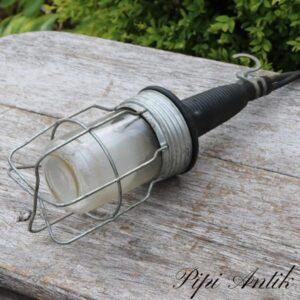 Arbejdslampe til orangeri festtest eller til indeløsninger lang ledning og stik Ø10xH34 cm