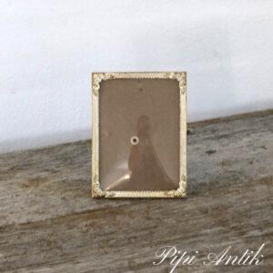 43 Metal fotoramme hvidt og guldlook B9,5xH12 cm