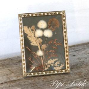 44 Metal fotoramme med presset blomster B16,5xH21 cm