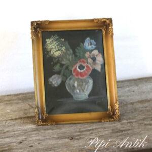 45 Metal billedramme med malet glaskunst B22,5xH28,5 cm