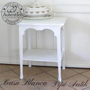 Casa Blanca serveringsbord minibord med underhylde L57xB44xH75 cm