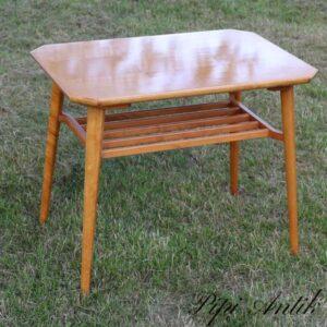 Retro lyst sofabord med underhylde L72xD50xH60 cm