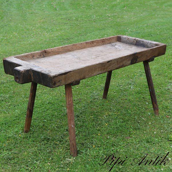 Sofabord evt patineret slagterbord eller plantebord L141xB52xH64 cm