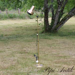 25 Gulvlampe retro guld look enkelt Ø22xH135 cm