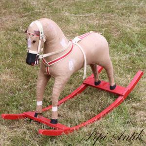 Hest i stof fast lille medernes længde L83xB30xH60 cm