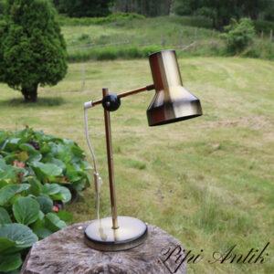 57 Retro guld sort bordlampe Ø45xH45 cm