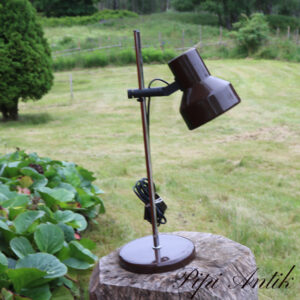Retro brun metal bordlampe Ø18xH54 cm