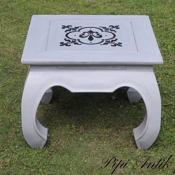 Gråt sofabord Paris Grey 60x60xH48 cm