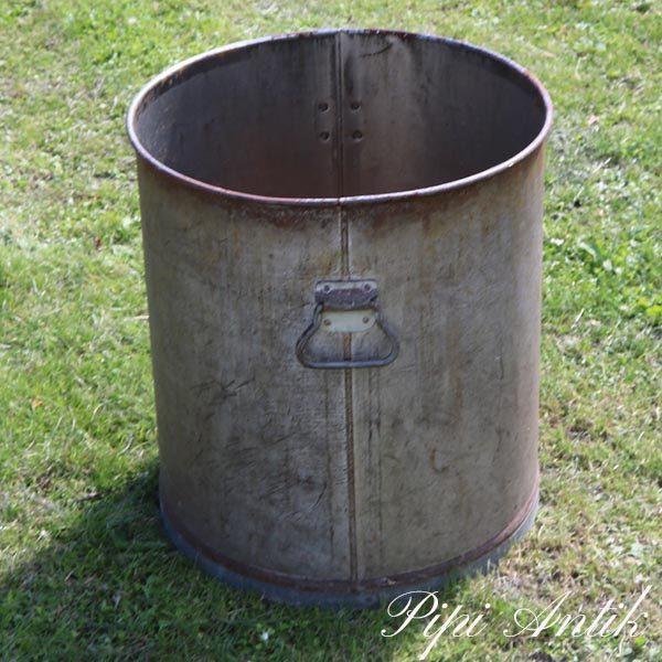 Metal tønde Ø45x49,5 cm