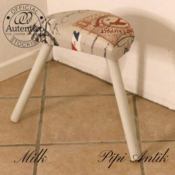 Milk skammel trebens nyt betræk L34xH37 cm