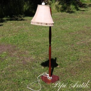 Teak lampe hejsebar i højden Ø24xH110 ca 130 cm