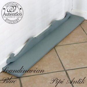 Scandinavian Blue hylde med udskæringer L104xD15xH10 cm