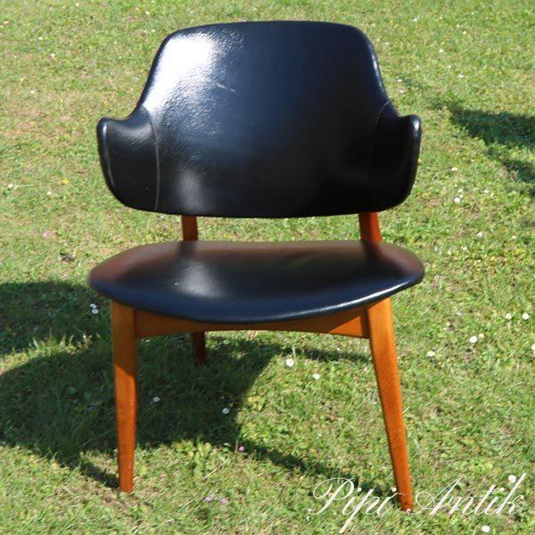 Ikea teak skai stol Winnie Galon fra 1956 B54xD48xH72 cm sædet 42 cm
