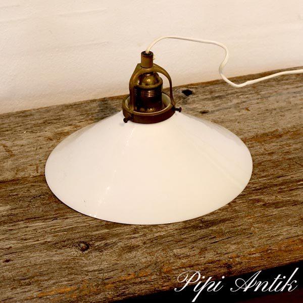 Loftlampe hvid opal Ø25x18 cm H