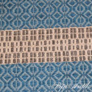 03 Siv kluddetæppe koboltblåt og gråt B60xL96 cm