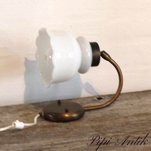 Væglampe hvid og metal Ø14xH18 cm H