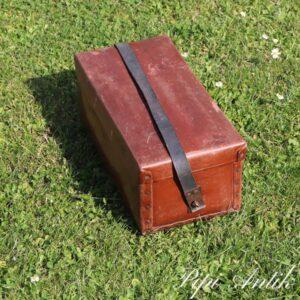 Retro dias arkiv kuffert med læderrem L37xB19xH20 cm