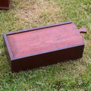 Brun sykasse bejset brun L35xB16,5xH10 cm