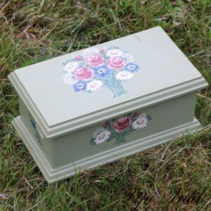 Lys grøn kasse romantisk Lise ôster L23,5xB13xH10 cm