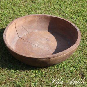 Dejtrug rund stor træskål Ø47xH13 cm