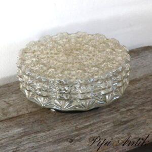 Loftlampe presset glas Ø28xH12 cm