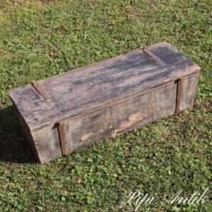 Værktøjskasse patineret grå L68xB25xH20 cm