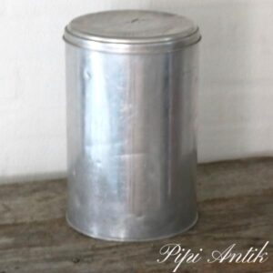 30 Aluminium retro dåse Ø20xH30 cm