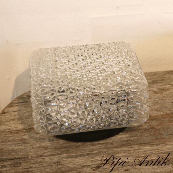 36 Loftlampe retro klar glas 19x19xH10 cm