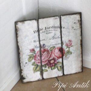 Romantisk billede MDF plade L40xH40 cm