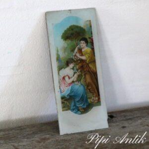 Romantisk billede i skifteramme fattigmandseje B12xH28 cm