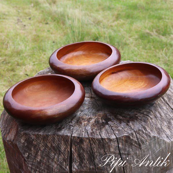 Træ skål per stk Ø17xH4,5 cm