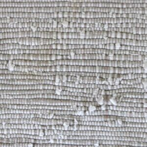 Råhvid grå kluddetæppe B65xL184 cm
