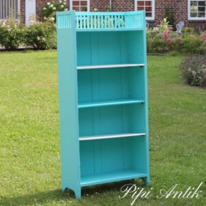 Reol i Bright Turquoise Autentico B60xD26,5xH132 cm