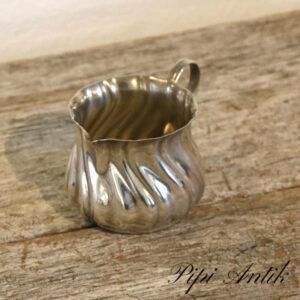 Retro flødekande sølvplet let Ø6x5,5 cm