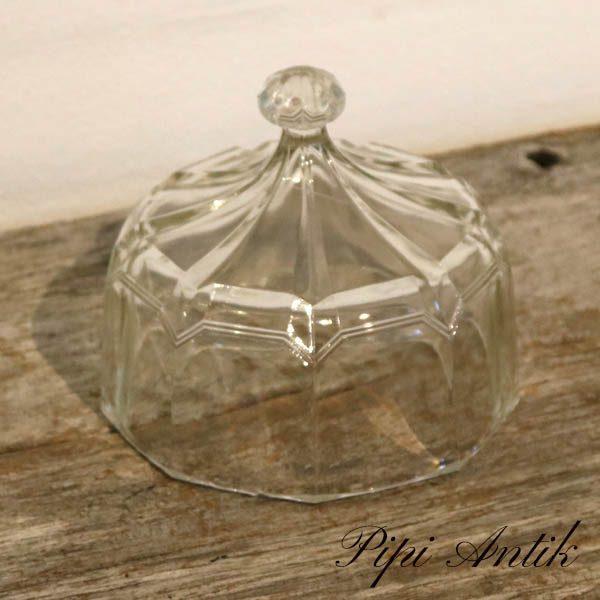 Glas osteklokke presset glas Ø15xH17 cm