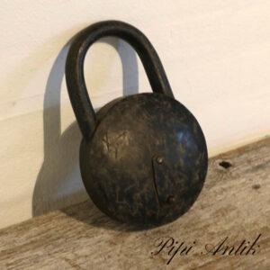 Sort hængelås uden nøgle opbevaring åben B16xH25,5xD6 cm