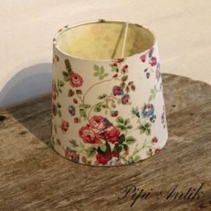 26 Lampeskærm romantisk blomstret Ø17xH15,5 cm