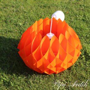 3131 Retro orange loftlampe i plastmateriale Ø40xH37 cm