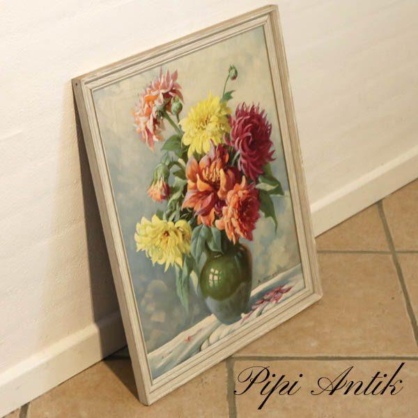 Billede romantisk blomster pastel E.K. B43,5xH55 cm