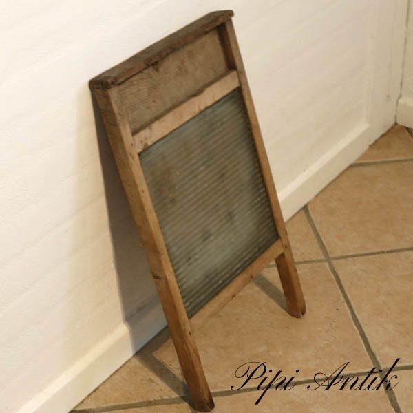 35 Vaskebræt med frosted glas B32xH58 cm