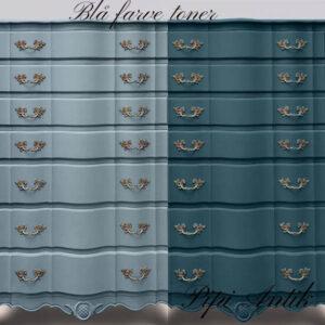 Blå farve toner i Versante 1000 ml