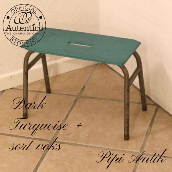 Dark Turquoise skoleskammel L42xB20xH30 cm