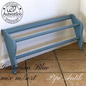 Tallerkenrække Gustavian Blue mix med sort Nocturnal L106xD12xHK43 cm