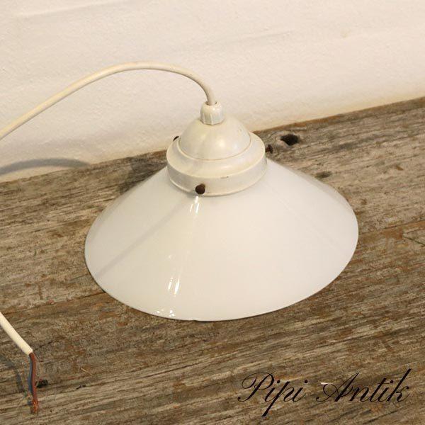 08 Hvid loftlampe skomagerlampe hvidt Ø19,5xH14 cm