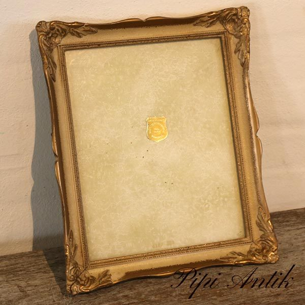 43 Billedramme fotoramme træ romantisk guld B28,5xH34,5 cm